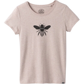 Prana Graphic T-shirt Dames, bee humble